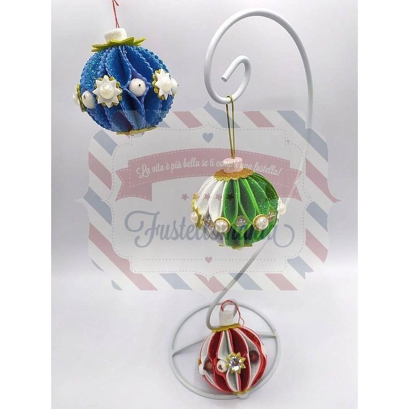 Fustella L Palline di Natale 3D con decorazioni
